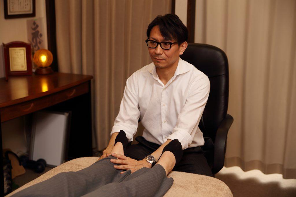 足首、下肢の調整
