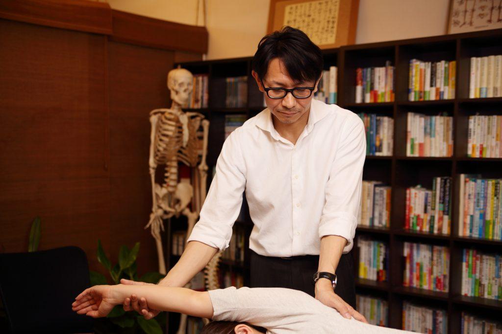 上肢と肩甲骨の調整
