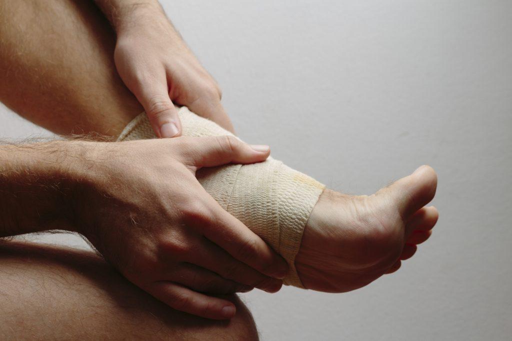 足首捻挫と炎症反応